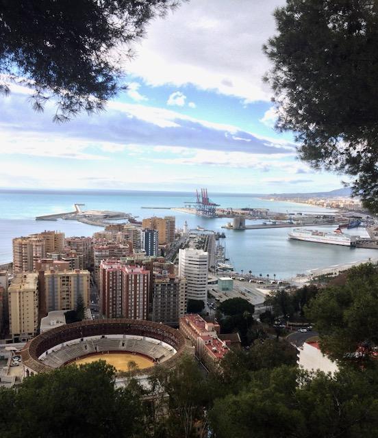 Málaga i april – sjakarandaen i full blomst og et lite møte med Picassos datter.