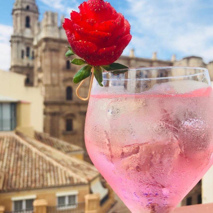 Miss Málaga & pink gin